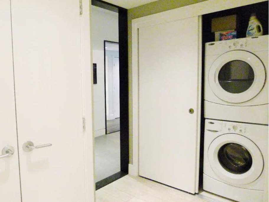 Ensuite Laundry w/Full-Size Washer/Dryer