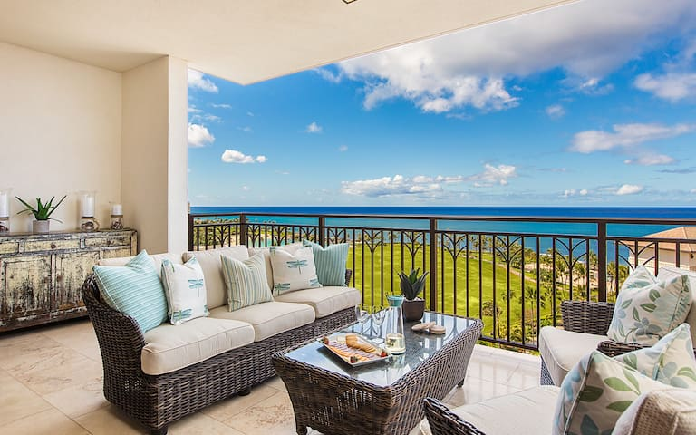 Luxury Ko Olina PENTHOUSE-Direct Ocean Views, Beach, Free Parking, Free Wifi!