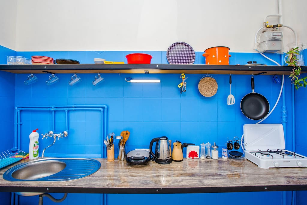 Color combination on the kitchen wall
