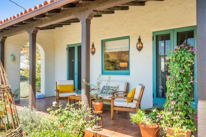 Lush gardens, elevated relaxed interior, and full of Santa Barbara charm!