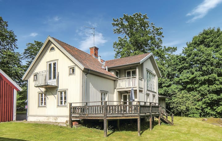 Awesome home in Ödeshög with Sauna, WiFi and 4 Bedrooms