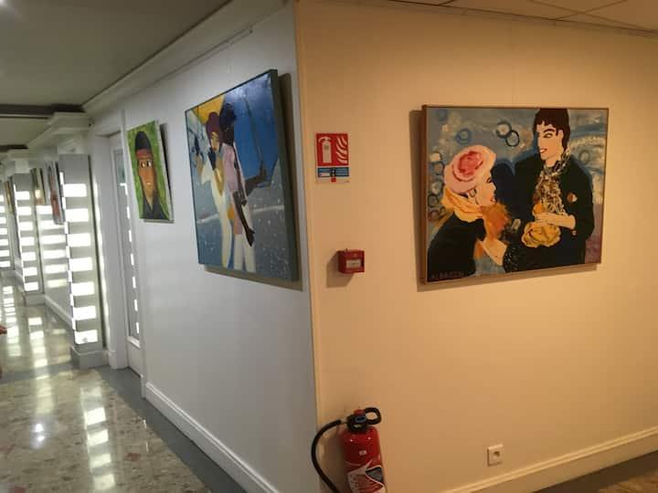 Un bout de mon expo à Toulouse