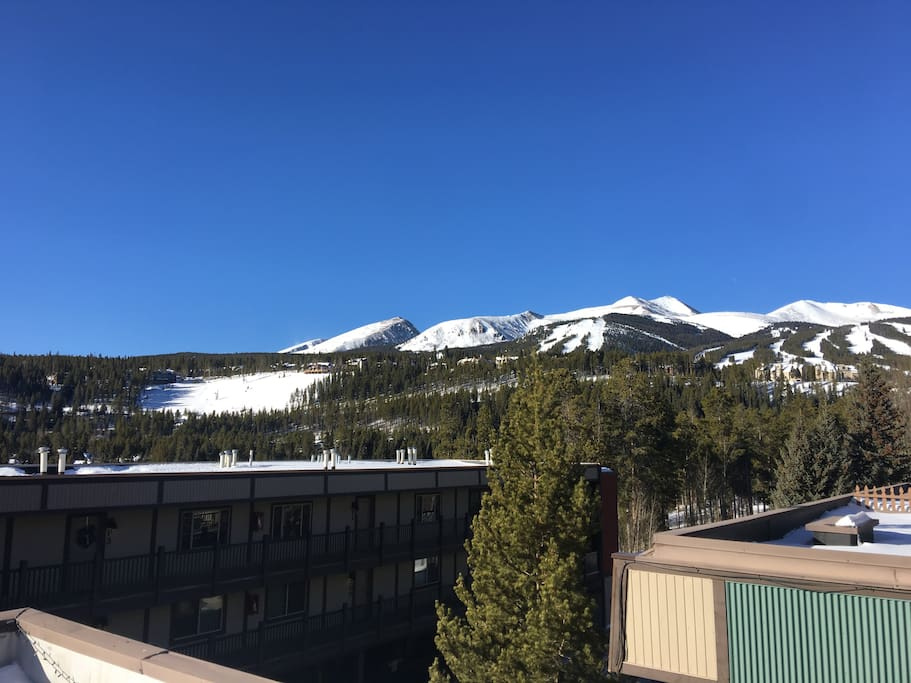 Amazing view of peak 9 and 10 from the outside patio.