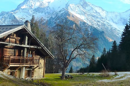 Chalet located on the ski slopes