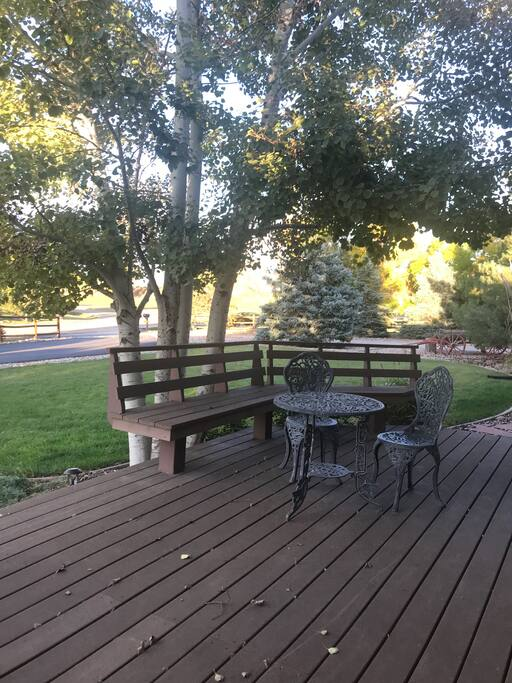 View from both sides of your porch retreat.