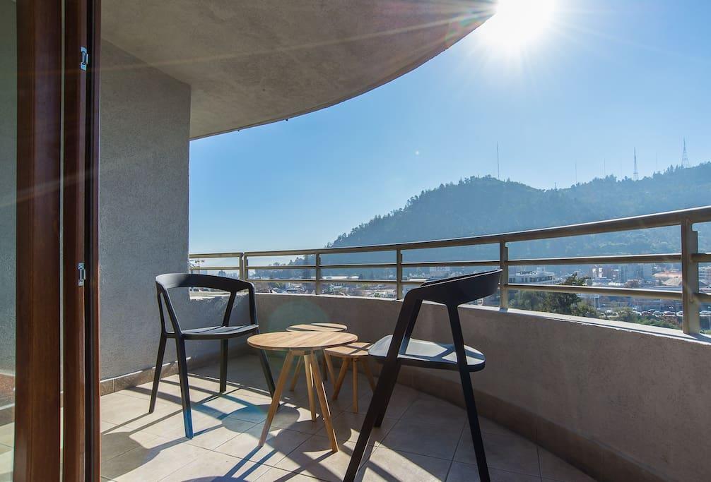Living room area terrace.