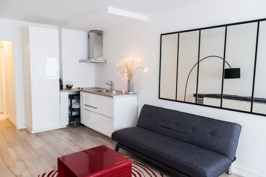 superbe studio moderne montparnasse appartements louer paris le de france france. Black Bedroom Furniture Sets. Home Design Ideas