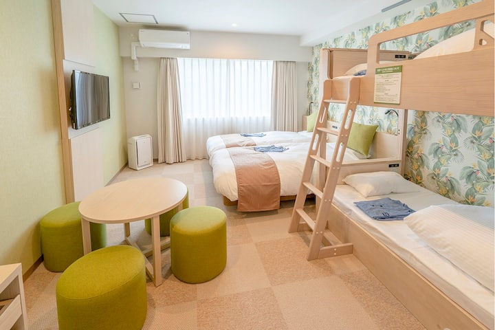 [Private room] Family room(nonsmorking) Near by Sunset Beach & American Village
