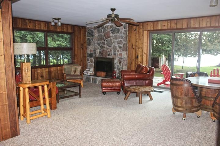 """HodgePodge Lodge"" on Big Platte Lake"
