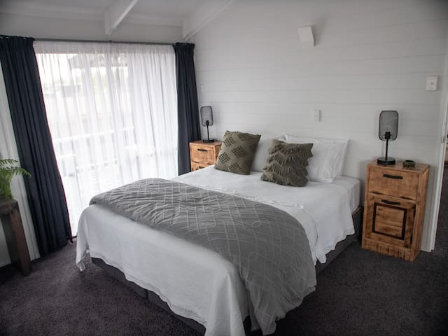 Spacious master bedroom with ensuite (shower and toilet)  Plenty of space for a portacot