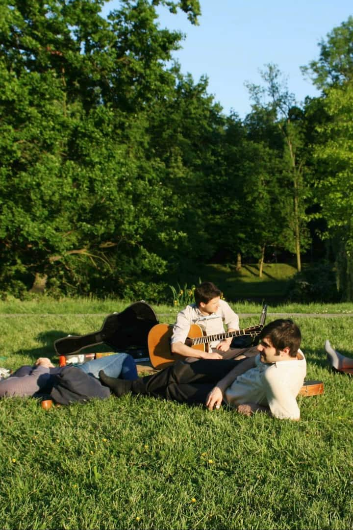Picknick-Zeit im Stromovka-Park