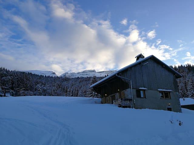 chalet d'alpage sur les pistes Mont-Saxonnex
