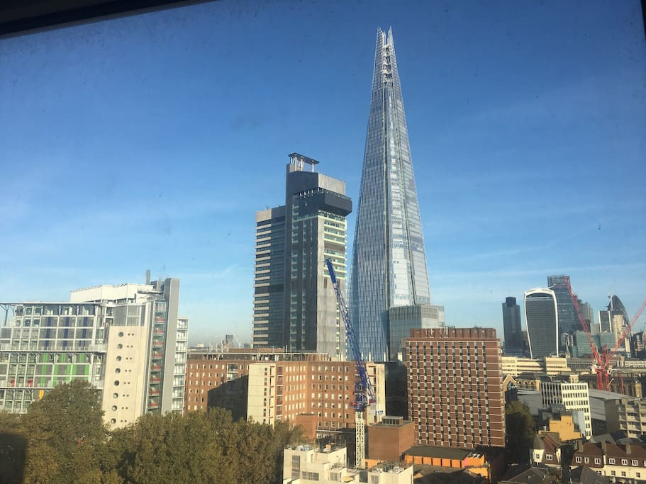 The world famous Shard Tower as you see it from our living room!!!