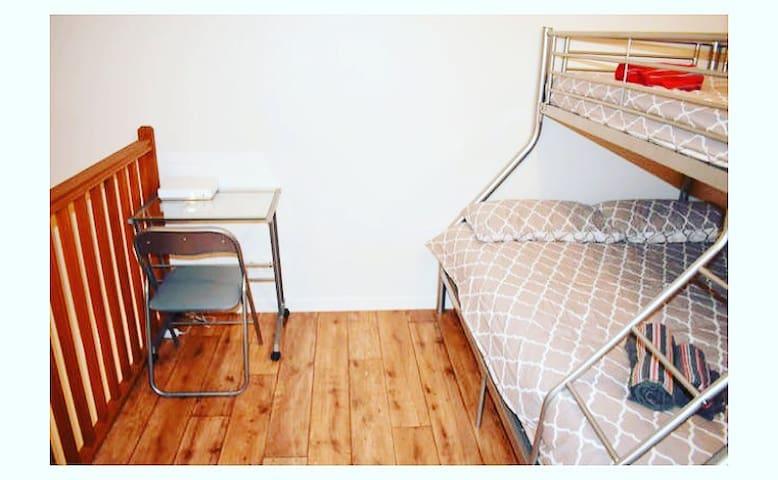 Première étage mezzanine avec 3 couchages