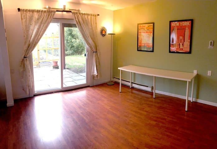 Lower level family room/living room area.