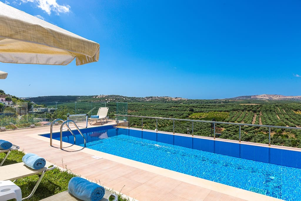 Great views of the surrounding area from the pool terrace!