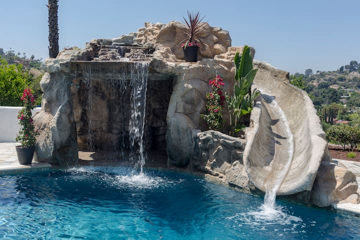 Private Resort Compound with Pool, Water Slide & Hot Tub ~ 10 - 16 guests