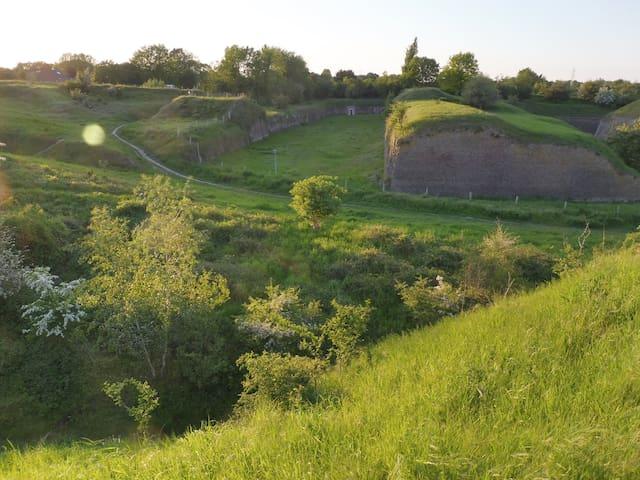 nature & historic monument 'Kazematten' (3 min. walk from H73)