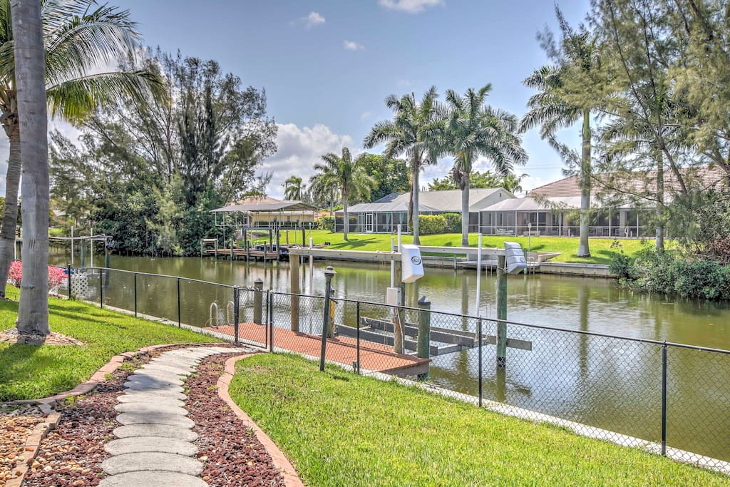 Rent a boat and park it at your private dock behind the backyard.
