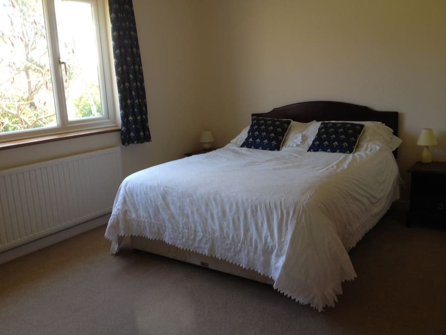 King size room with views over rear garden