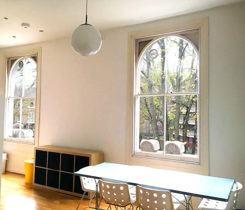 Bright Living Room view towards balcony