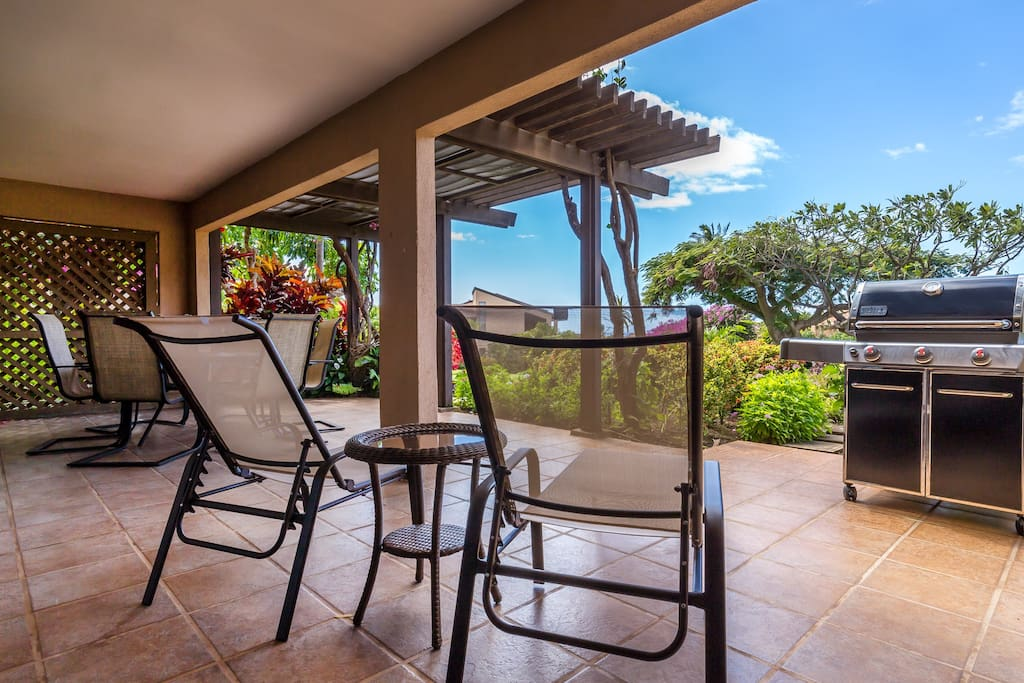 Very Large, Private Lanai With 2 Lounge Chairs