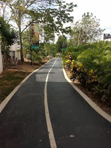 Incluye ciclopista por el Fraccionamiento donde tiene áreas recreativas, juegos, Canchas deportivas y área de Asadores.. !