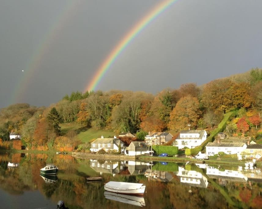 Rainbows over Lerryn