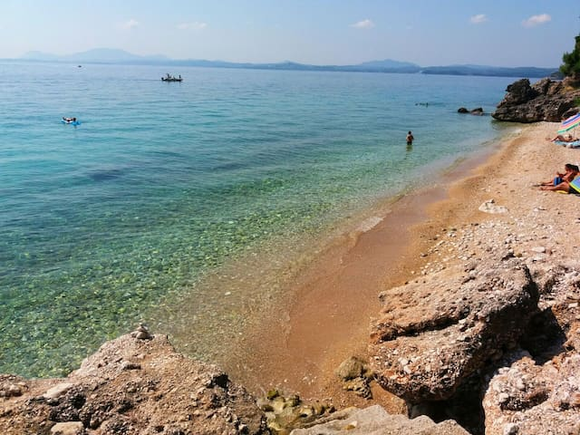 alexioy beach, close to barbati village, about 7-10minutes by car