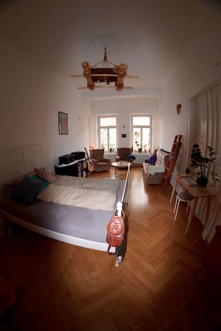 Schlaf und Wohnraum