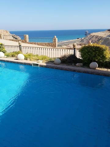 Villa with private pool in lasiesta elsokhna