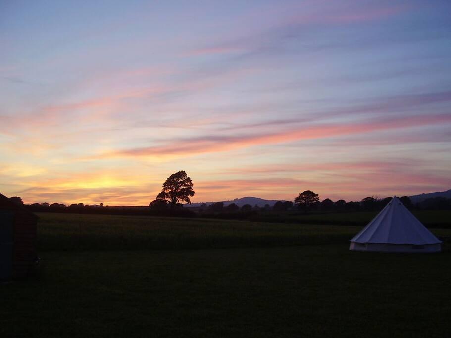 Sunset over Pilsdon Pen