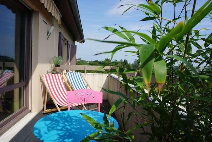 Chambre/SdB privée proche de Lyon