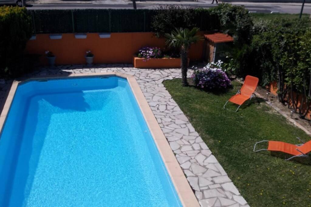 piscine 4x8 avec coin solarium
