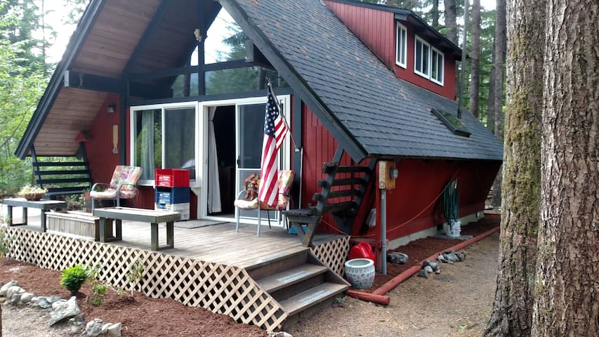 Remodeled cabin in the woods