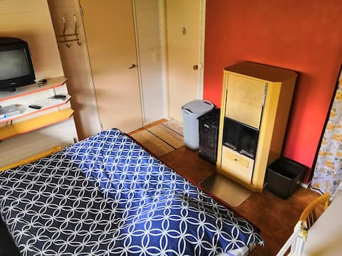 Room with fireplace and sauna near Sampo icebreake