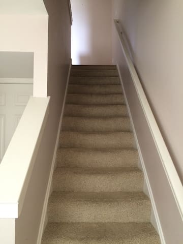 Stairs up to main living space.
