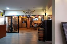 One of many eateries located a mere 5 minute walk to/from the apartment . Boasting multiple large  screens, Wings provides a great venue in which to watch and enjoy various  sporting events.