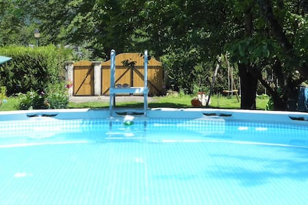 3 bedrooms house/7pers/100m2/pool - Notre-Dame-de-Mésage - 一軒家