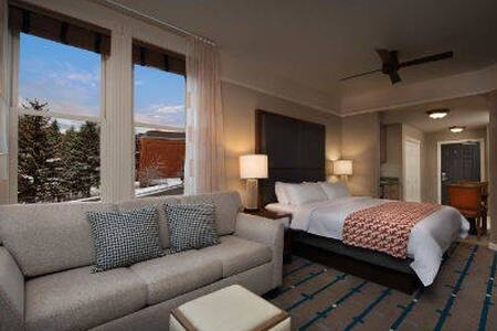 Cozy Studio w King bed, pullout sofa,kitchenette. - Park City