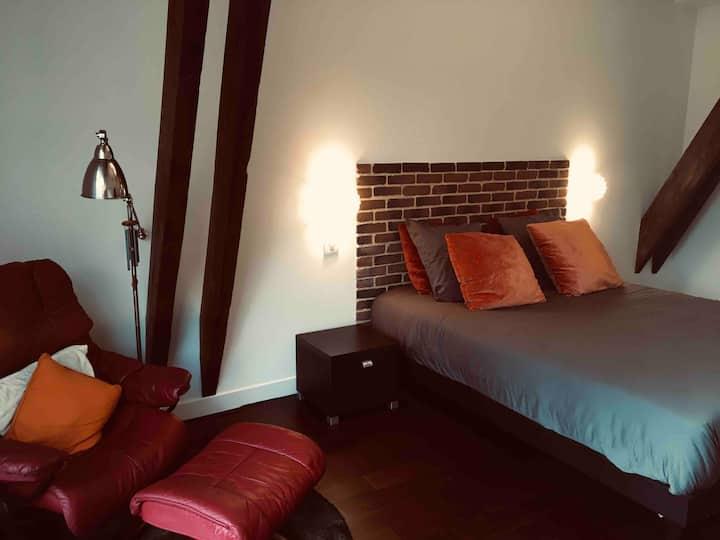 Chambre privée type loft us au coeur de Bordeaux