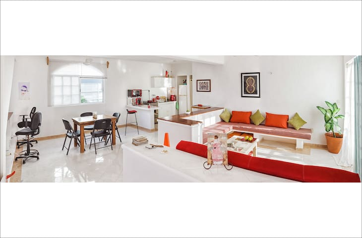 Spacious and Clear / 1Bedroom + Big sofa - Playa del Carmen - Lejlighed