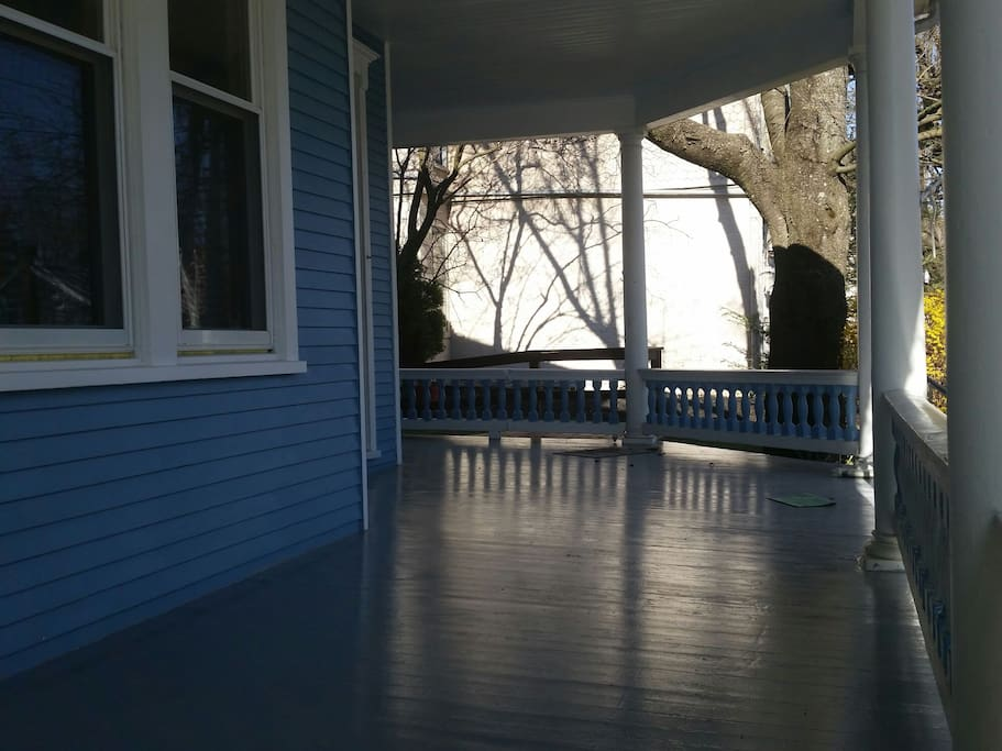The front porch is a great place to sit with you friends and family to plan your day in Hershey Pennsylvania.