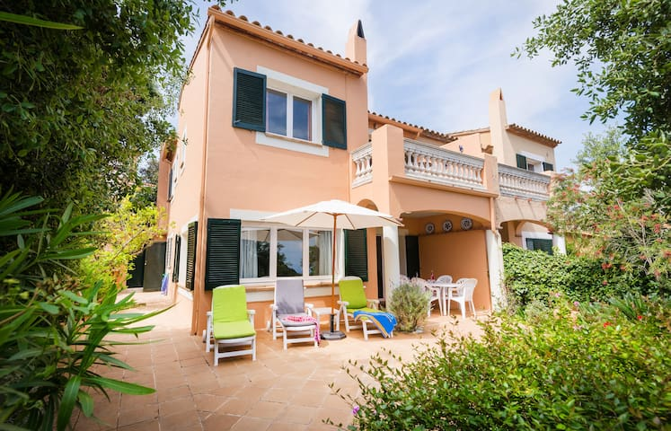 Terrace - outside living area. - sun loungers, dining area, BBQ. Also double rooms access to balcony with views of sea and castle.