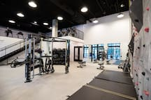 Awesome space to work on your gains and has a bunch of cardio equipment on the upper level too.