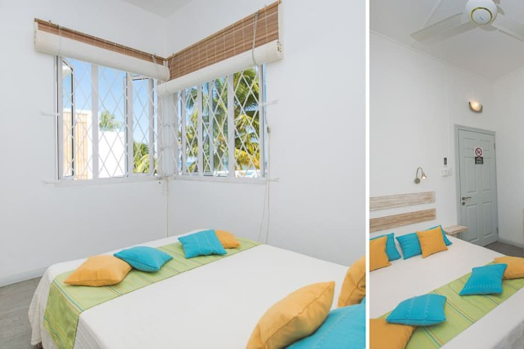 Main sunny bedroom with double bed