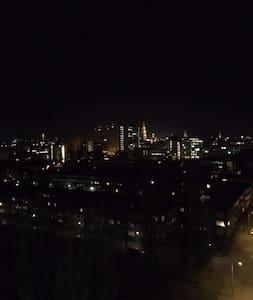 Appartement met uitzicht over de gehele stad! - Groningen - Apartemen