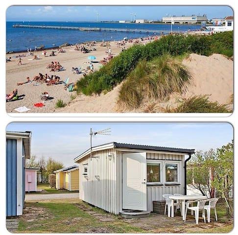 Modern badhytt vid Skrea Strand - Falkenberg - Casa de campo