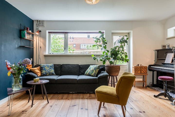 Lovely, bright house in the trendy Amsterdam North