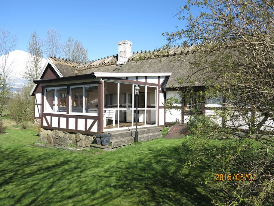 Backside and veranda